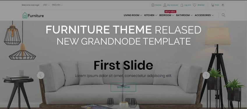 Picture for blog post New template - Furniture Theme