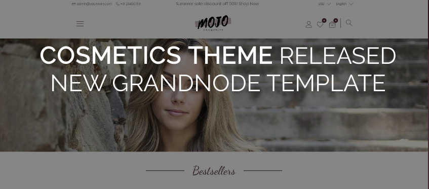 Picture for blog post New template - Cosmetics Theme