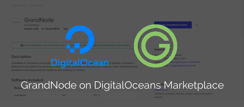 Picture for blog post GrandNode on DigitalOcean Marketplace