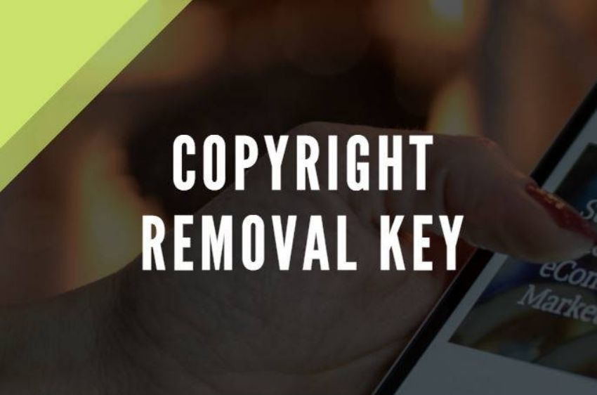 Copyright removal key product picture