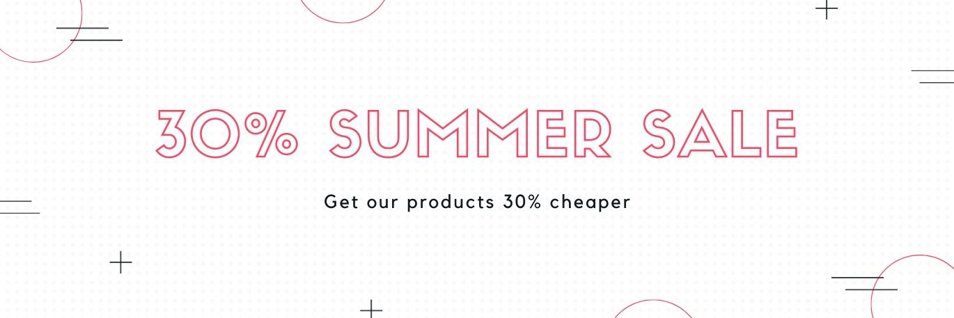 Picture for blog post Summer sale - 30% discount for our products